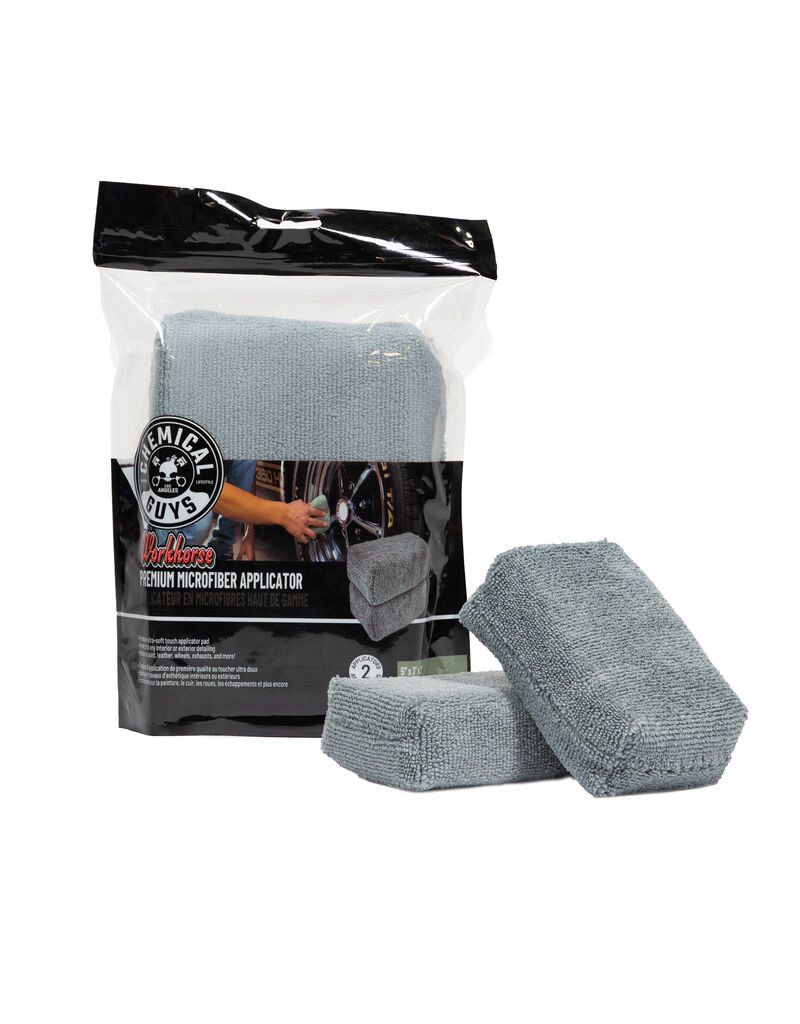 Chemical Guys MIC28502 Workhorse Premium Microfiber Applicator, Gray