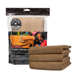Chemical Guys Workhorse Professional Microfiber Towel, Tan 16'' x 16'' (3 Pack)