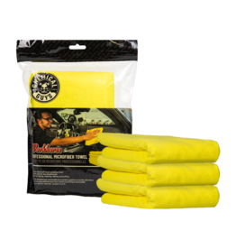 Chemical Guys Workhorse Professional Microfiber Towel, Yellow 16'' x 16'' (3 Pack)