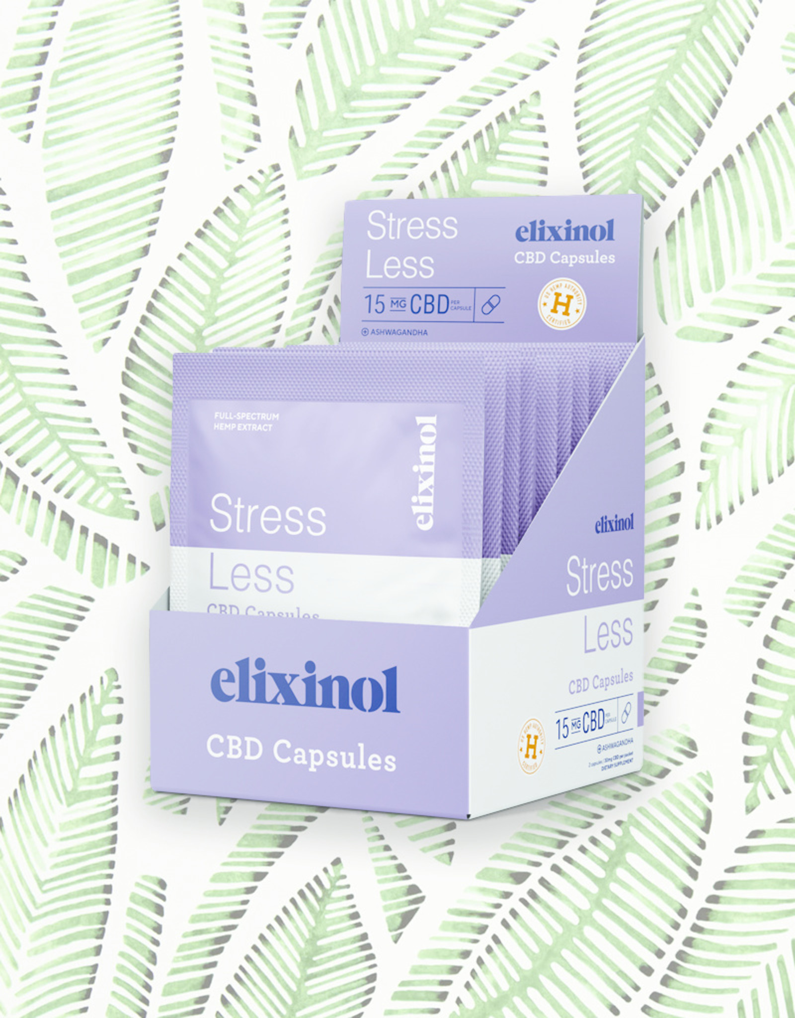 Elixinol Elixinol Stress Less Capsules 10 Pack(2/count)