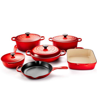 10 PIECE CAST IRON COOKWARE SET