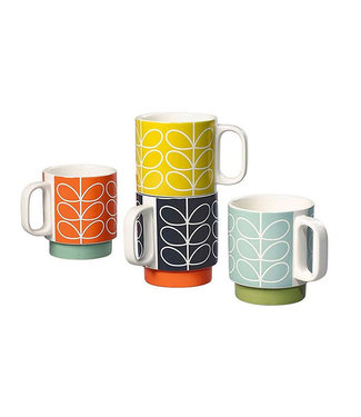 ORLA KIELY 70S STACKING MUGS