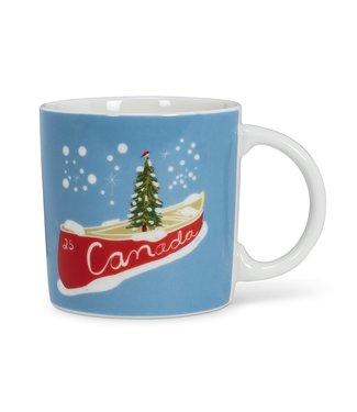 CANOE CHRISTMAS CANADIAN MUG
