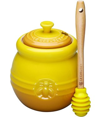HONEY POT WITH SILICONE HONEY DIPPER