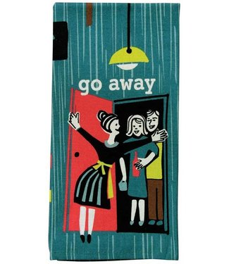 GO AWAY DISH TEA TOWEL
