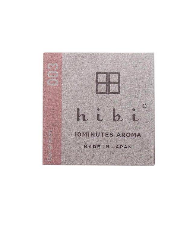 HIBI GERANIUM INCENSE MATCHES