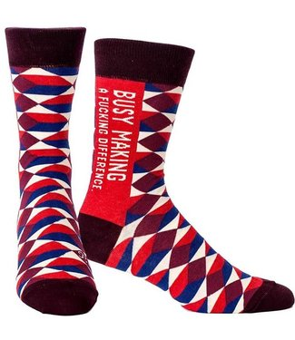 BUSY MAKING DIFFERENCE MEN SOCK