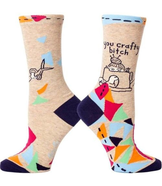 YOU CRAFTY BITCH WOMEN SOCK