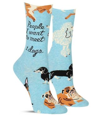 PEOPLE TO MEET: DOG WOMEN SOCK