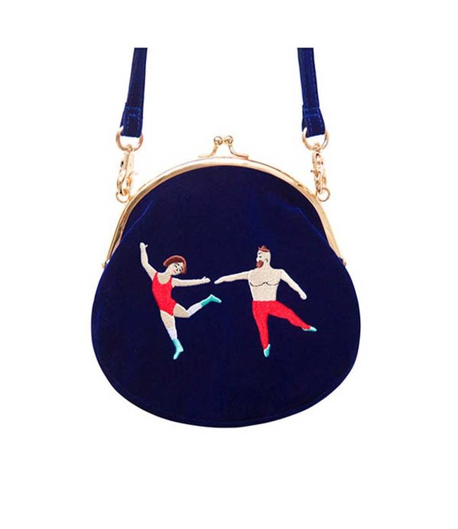 VELVET EMBROIDERED PURSE DANCE WITH ME