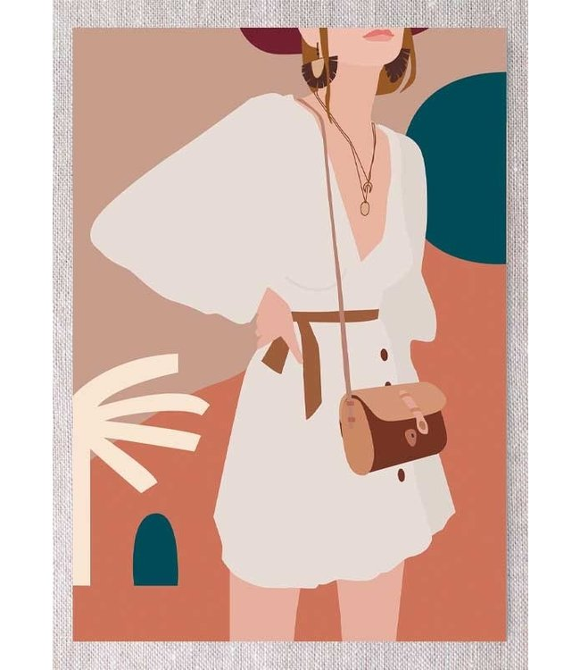 FASHION GIRL WITH WHITE DRESS
