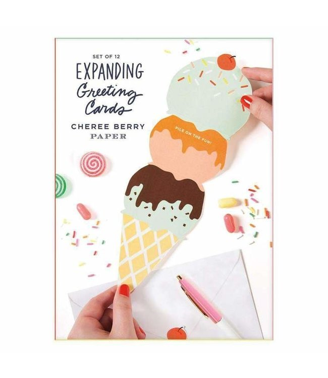CHEREE EXPANDING ICE CREAM CARDS SET