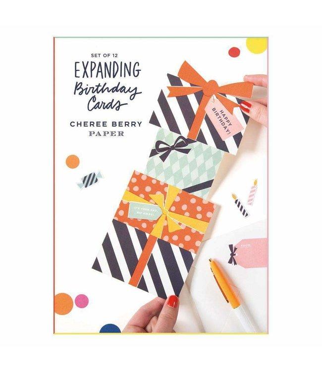 CHEREE EXPANDING BIRTHDAY CARDS SET