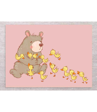 BEAR WITH DUCKLINGS