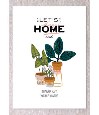 STAY HOME WITH ME CARD