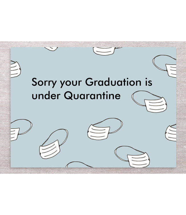 GRAD CARD WITH MASKS