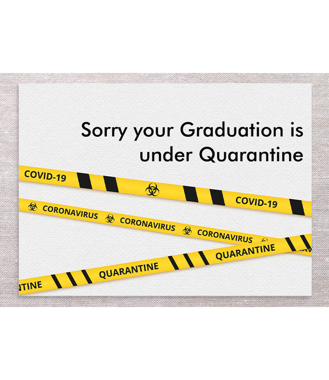 GRAD CARD WITH YELLOW TAPE