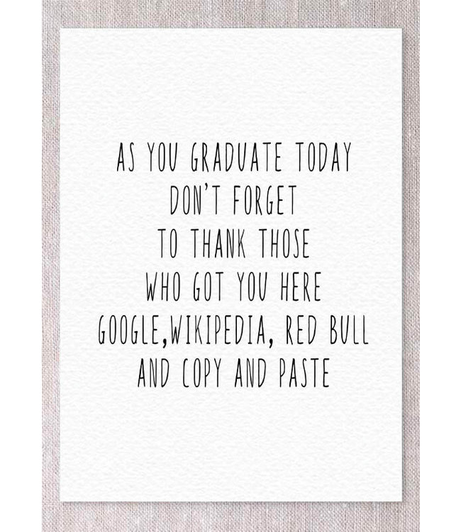 AS YOU GRADUATE GRAD CARD