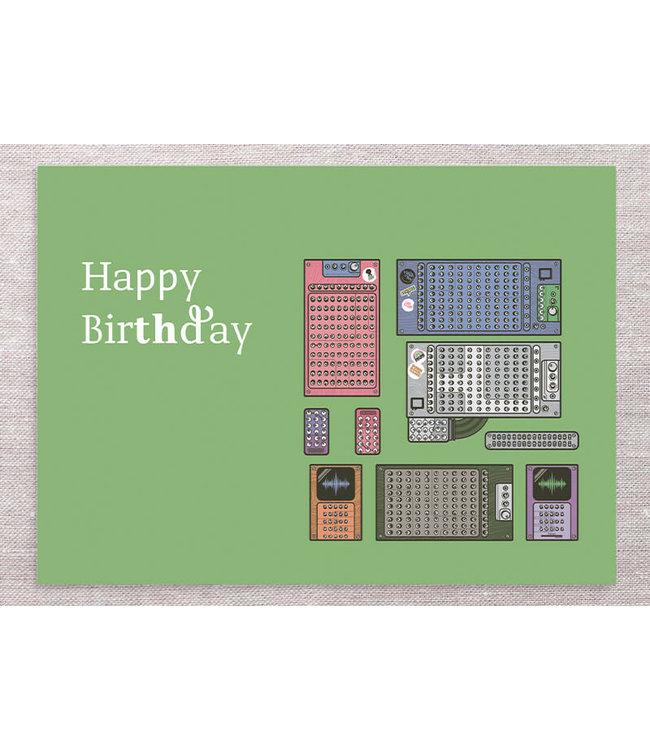 GREEN MODULAR BIRTHDAY CARD