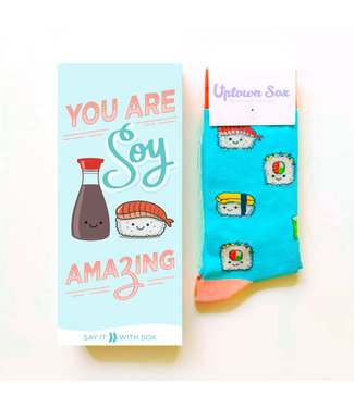 SUSHI ROLL SOCK CARD