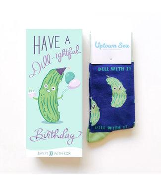 PICKLE BIRTHDAY SOCK CARD