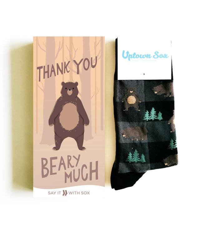 THANK YOU BEAR SOCK CARD