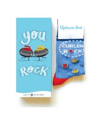CURLING ROCKS  SOCK CARD