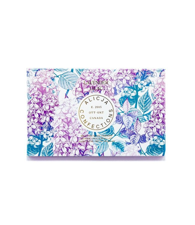 LAVENDER LILAC CHOCOLATE BAR POST CARD