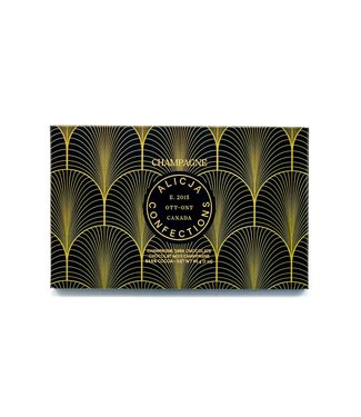 CHAMPAGNE CHOCOLATE BAR POST CARD