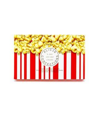 MOVIE NIGHT POPCORN CHOCOLATE BAR POST CARD