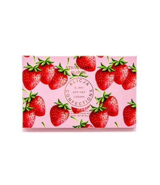 STRAWBERRY BLONDE CHOCOLATE BAR POST CARD