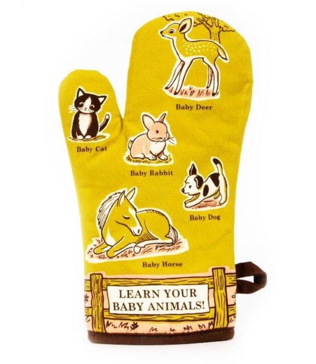 BABY ANIMAL OVEN MITT