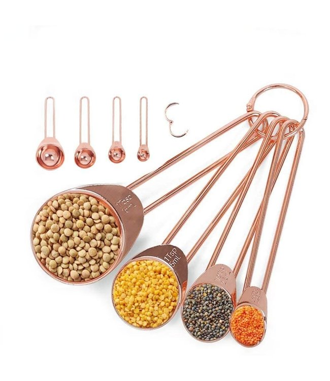 ROSE GOLD MEASURING SPOONS AND CUPS
