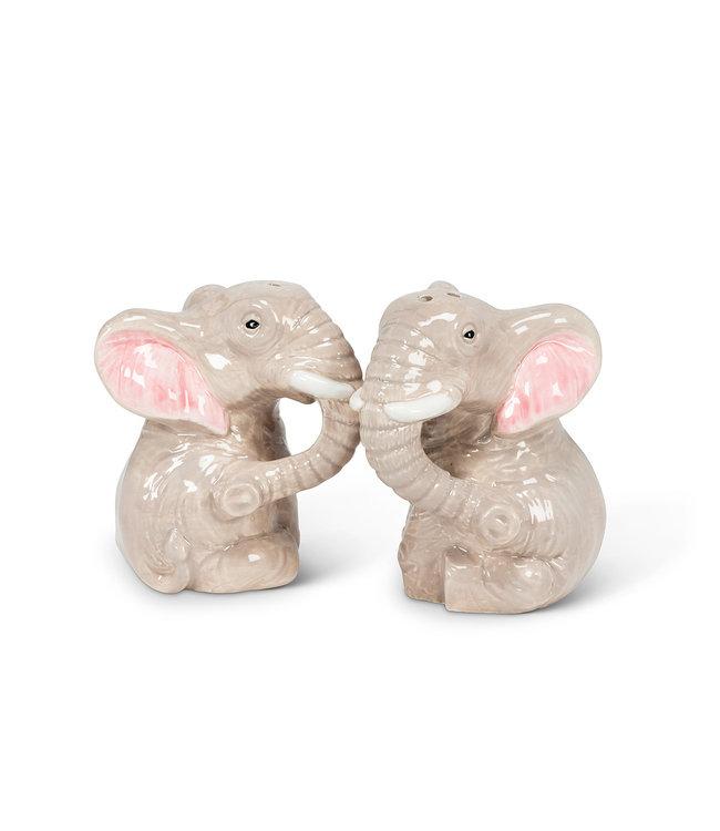CUTE ELEPHANT SALT & PEPPER SHAKER SET