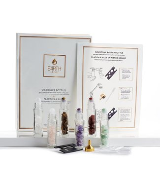 GEMSTONE AND GLASS OIL ROLLER SET
