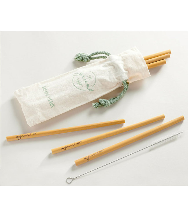 BAMBOO STRAW SET WITH CLEANING BRUSH
