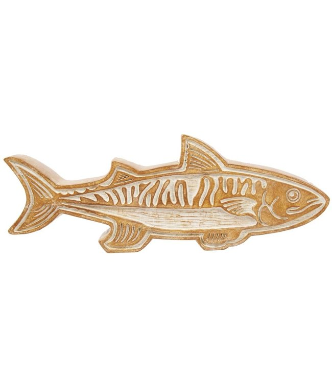 TRUE NORTH CARVED FISH AND BIRD