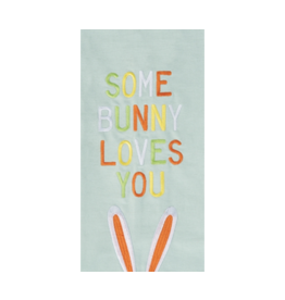 C and F Home Easter Towel Some Bunny Loves You