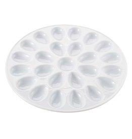 """Harold Imports Porcelain 24 Deviled Egg Dish/Platter, 13.25"""""""