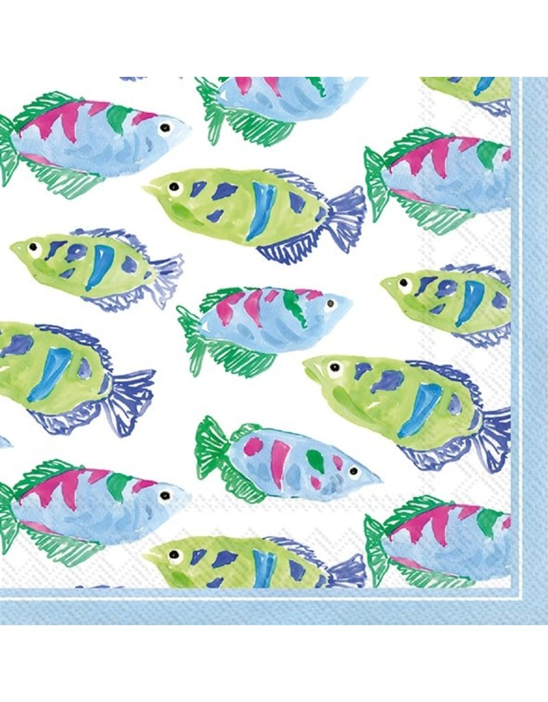 Boston International Cocktail Napkin, Spring Garden Fish