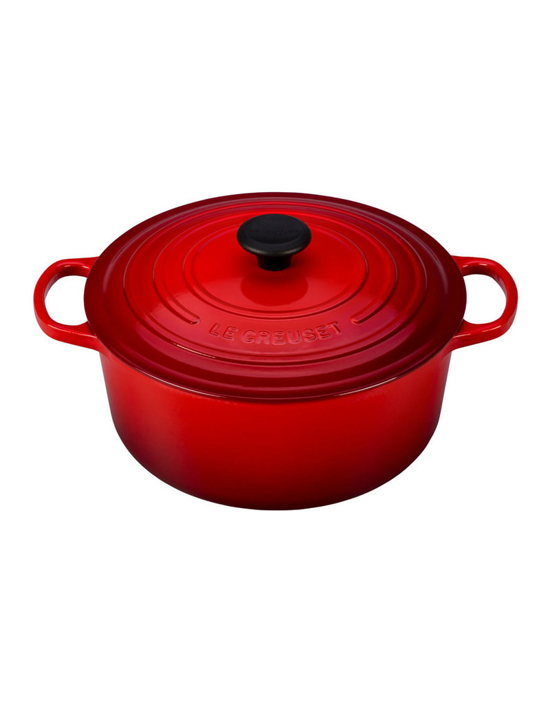 Le Creuset Enameled Cast Iron Signature Round Dutch Oven 5.5qt Cerise Red ciw