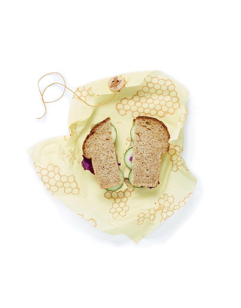 "Bee's Wrap Reusable Bee's Food Wrap, Single SANDWICH 13""x13""cir  disc"
