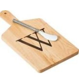 JK Adams Cheese Board Gift Set with Spreader - ''W''