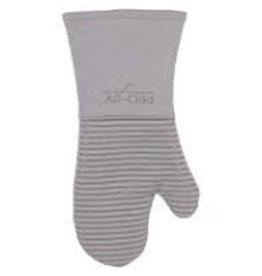 John Ritzenthaler AllClad Silicone Mitt Glove, Titanium Gray