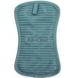 John Ritzenthaler AllClad Silicone Potholder, Rainfall Turquoise