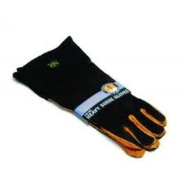 Charcoal Companion Extra Long Suede Grill Mitt Gloves ciw