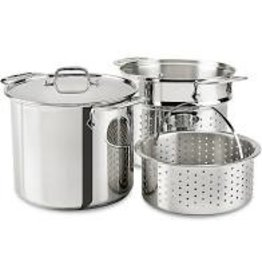 All Clad Multi-Cooker, Stainless, 8qt