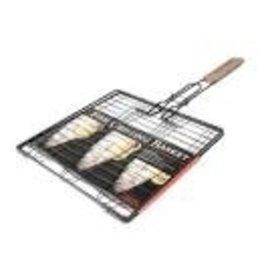 Charcoal Companion Triple Fish Basket Nonstick
