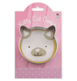 Ann Clark Cookie Cutter Kitty Cat Face with Recipe Card, MMC