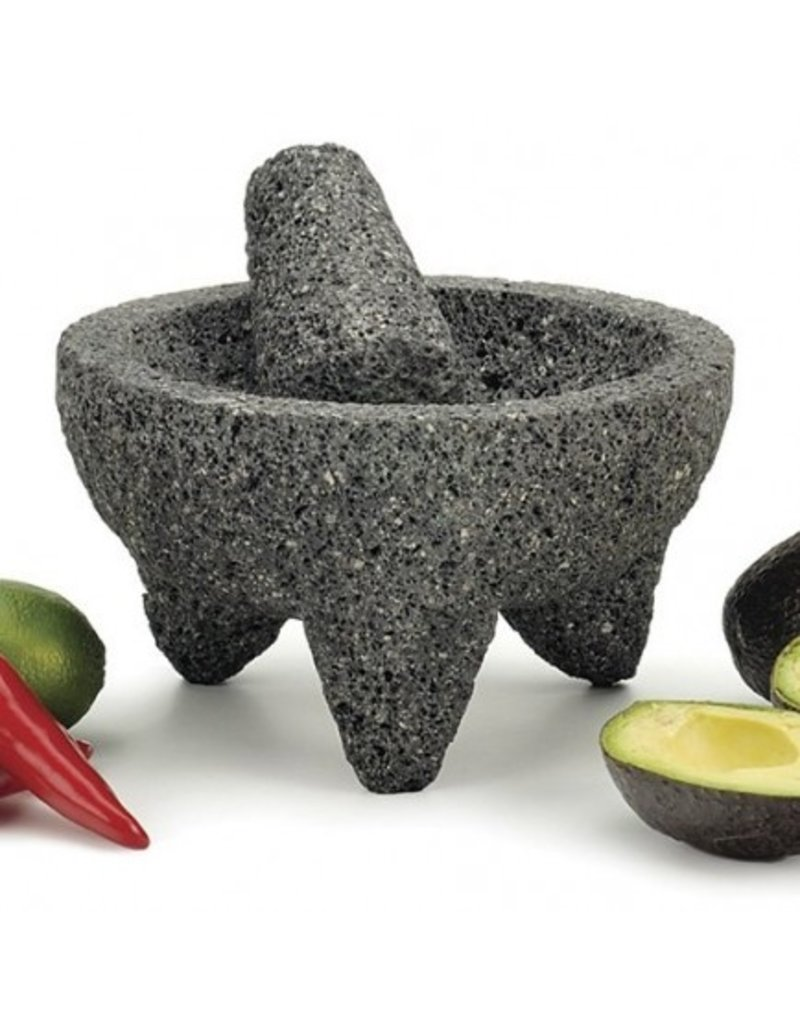 RSVP Authentic Mexican Molcajete Mortar Pestle Guac